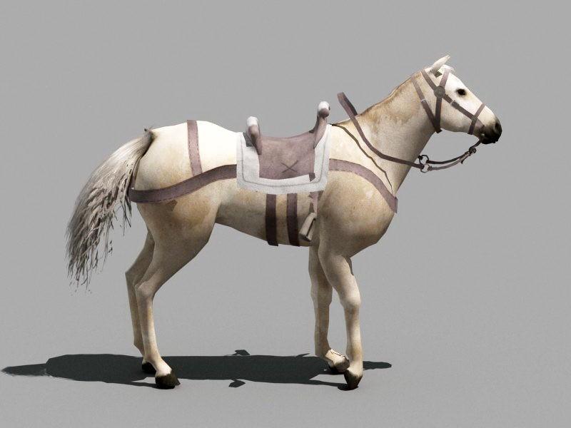 White Horse 3d rendering