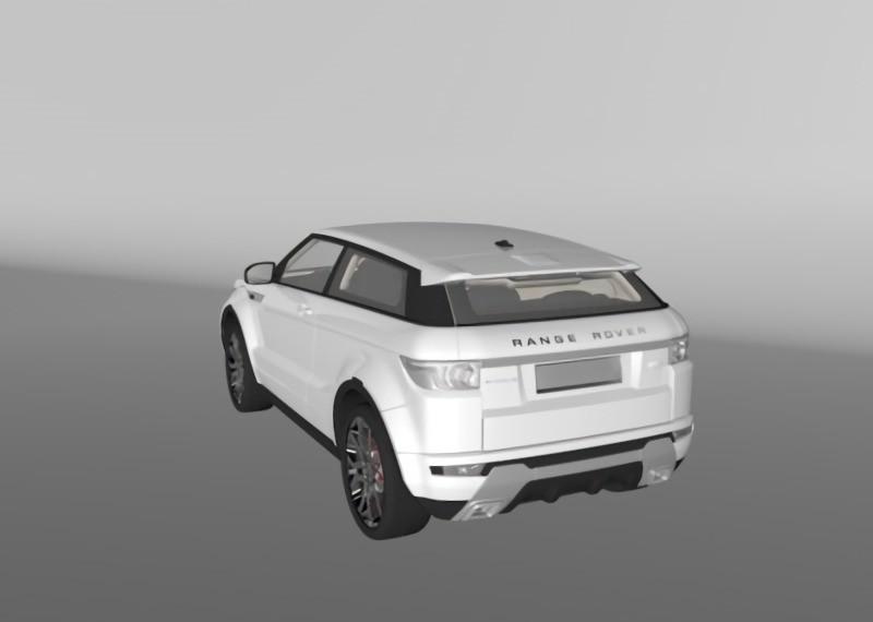 Range Rover Evoque 3d rendering