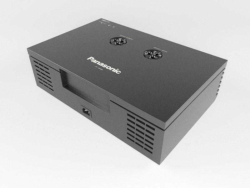 Panasonic Projector 3d rendering