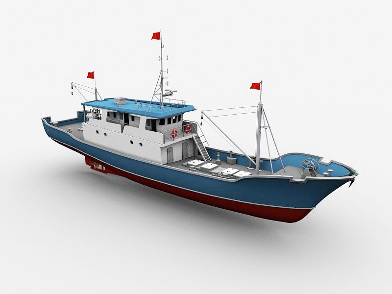 Fishing Vessel 3d rendering