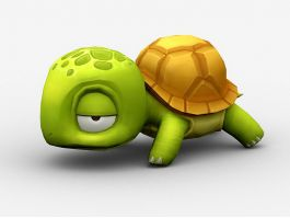 Cute Cartoon Sea Turtle 3d preview