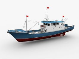 Fishing Vessel 3d preview