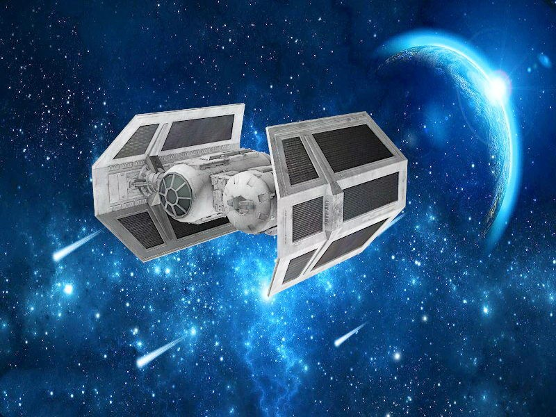 Star Wars Tie Bomber 3d rendering
