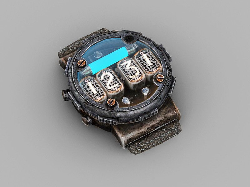 Steampunk Timer Detector 3d rendering