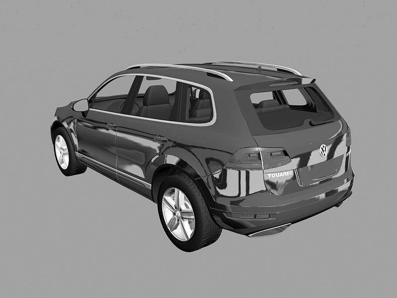 Volkswagen SUV Touareg 3d rendering
