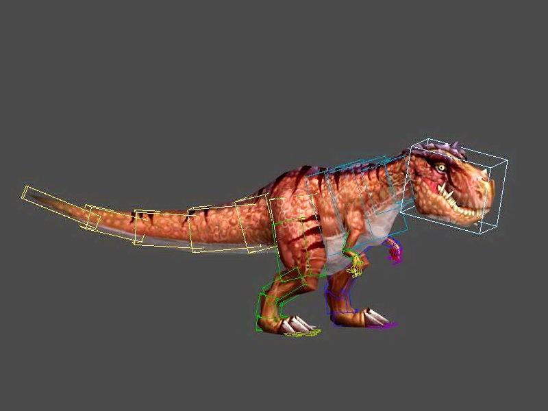 Animated T-Rex Dinosaur 3d rendering