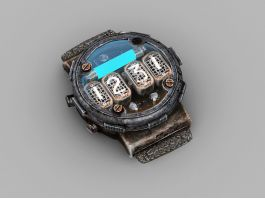 Steampunk Timer Detector 3d preview