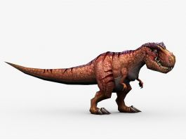 Animated T-Rex Dinosaur 3d preview