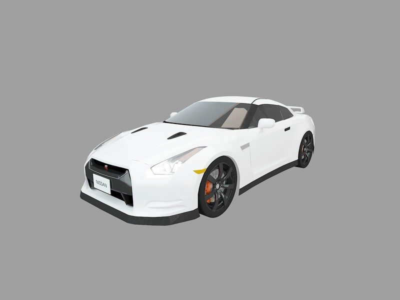Nissan GT-R Sports Car 3d rendering