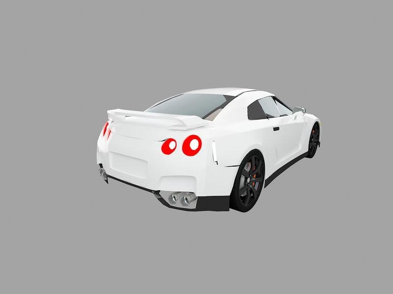 Nissan GT-R Sports Car 3d rendering