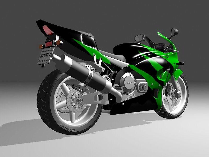 Honda CBR Sport Bike 3d rendering