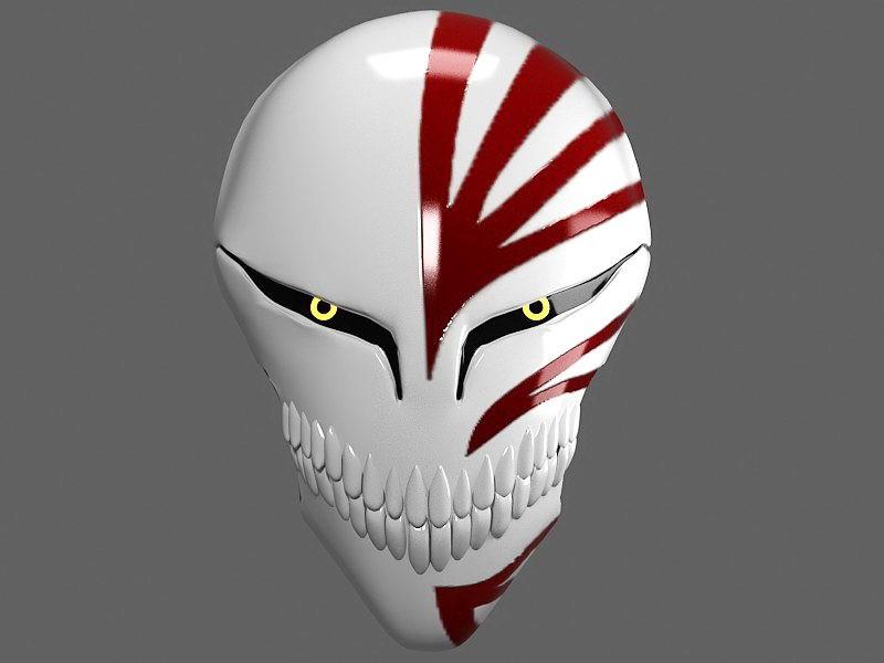 Bleach Hollow Mask 3d rendering