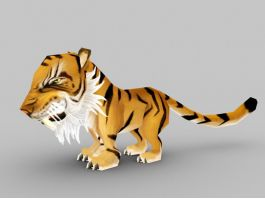 Chibi Tiger 3d preview