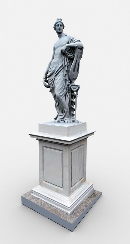 Apollo God Statue 3d rendering