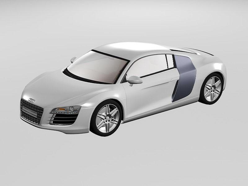 Audi R8 Sports Car 3d rendering
