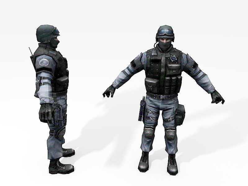 SWAT Commando 3d rendering