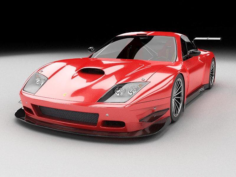 Ferrari 575 Modena 3d rendering