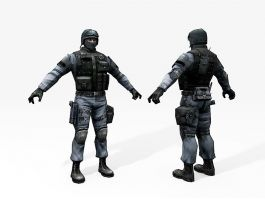 SWAT Commando 3d preview