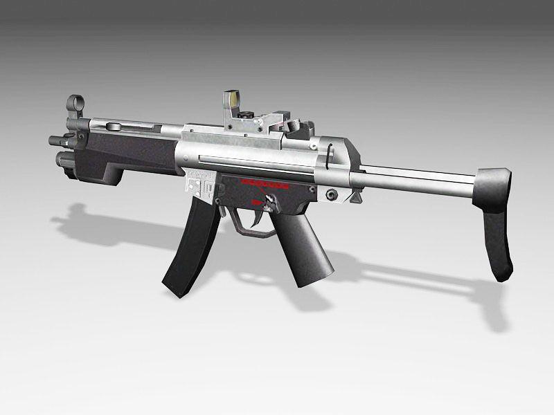 H&K MP5 Submachine Gun 3d rendering