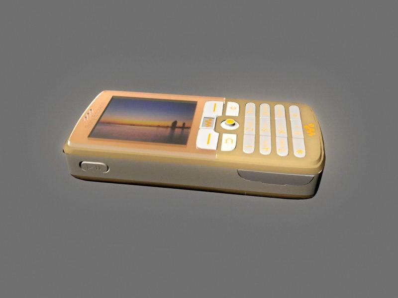 Sony Ericsson W700 3d rendering