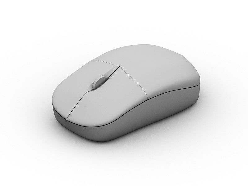 Wireless Mouse 3d rendering