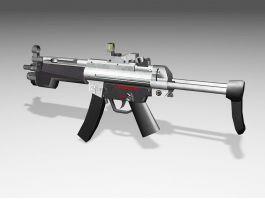 H&K MP5 Submachine Gun 3d preview
