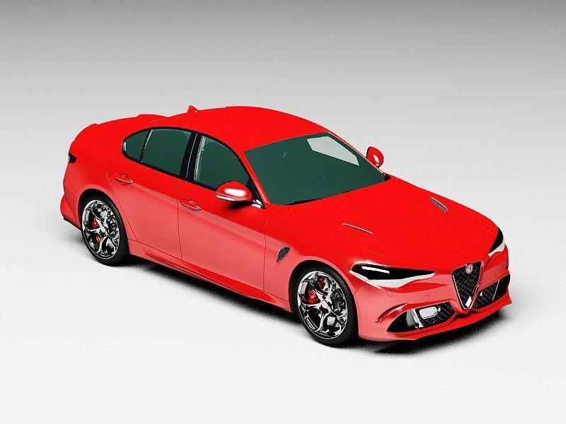 Alfa Romeo Giulia 3d rendering