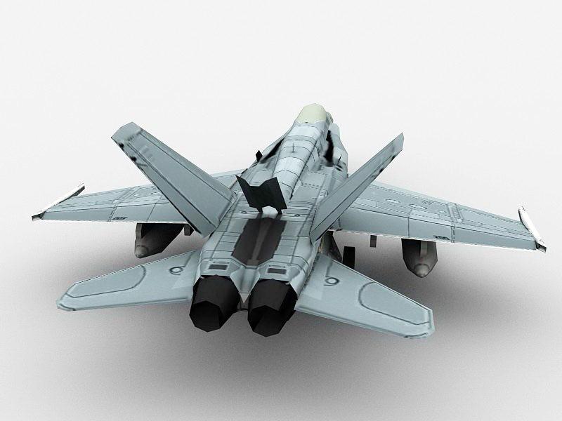 FA-18 Hornet Multirole Fighter 3d rendering