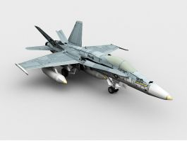 FA-18 Hornet Multirole Fighter 3d preview