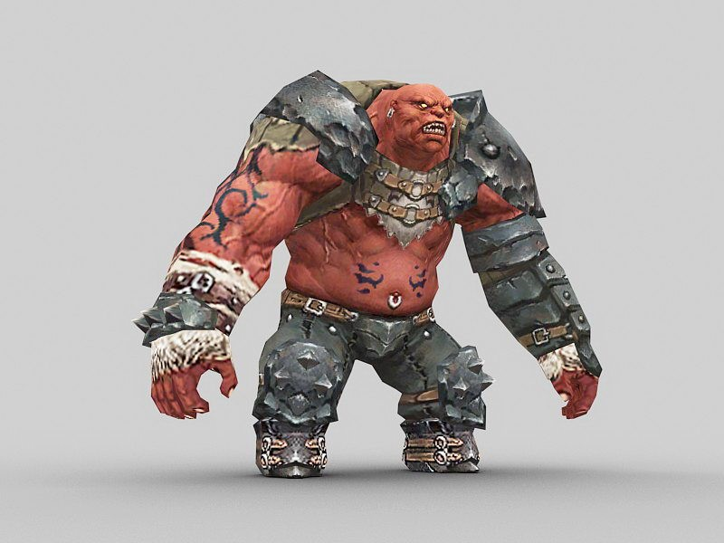 Ogre Warrior 3d rendering