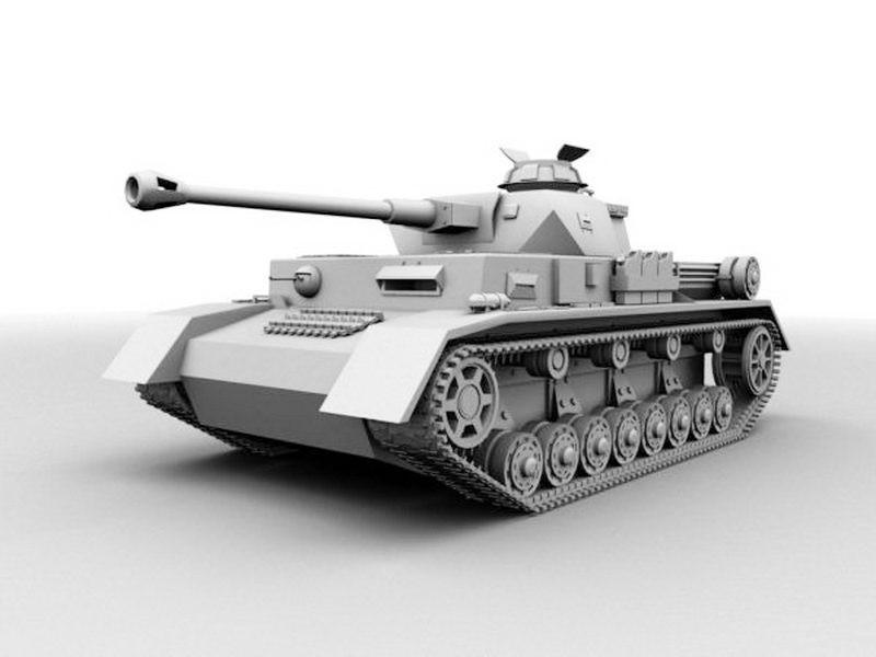 Panzer Ⅳ Ausf. F2 3d rendering