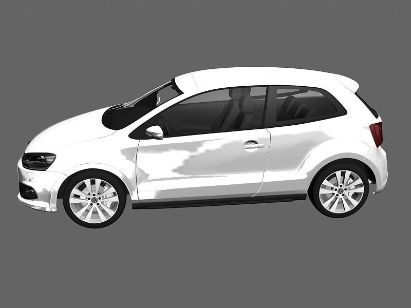 Volkswagen Polo hatchback 3d rendering