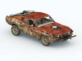 Old Rusted Car 3d preview