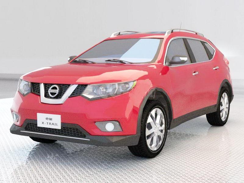Nissan X-Trail 3d rendering