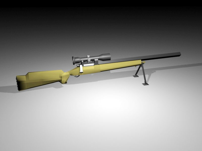 M24 Sniper Rifle 3d rendering