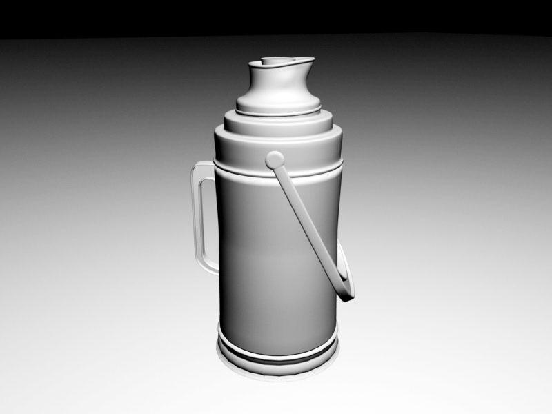 Vintage Stanley Thermos 3d rendering