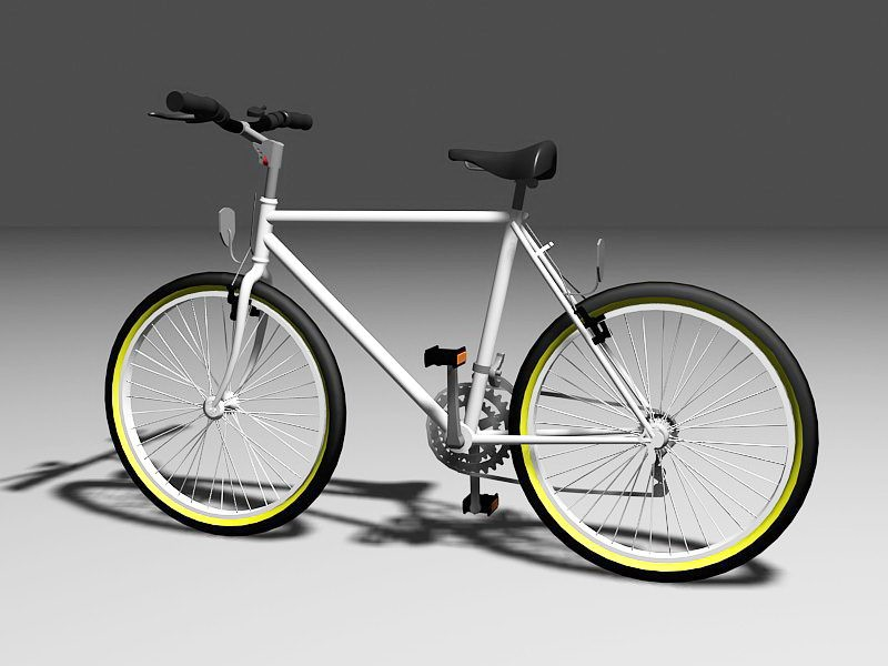 Mountain Bike 3d rendering