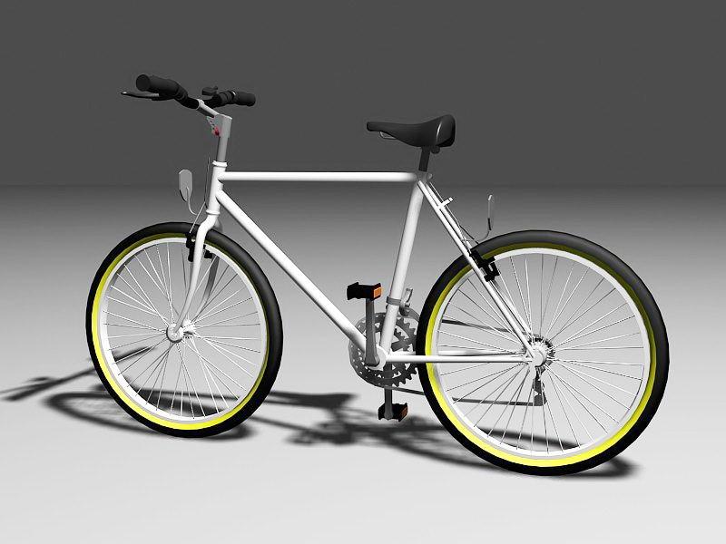 Mountain Bike 3d rendering