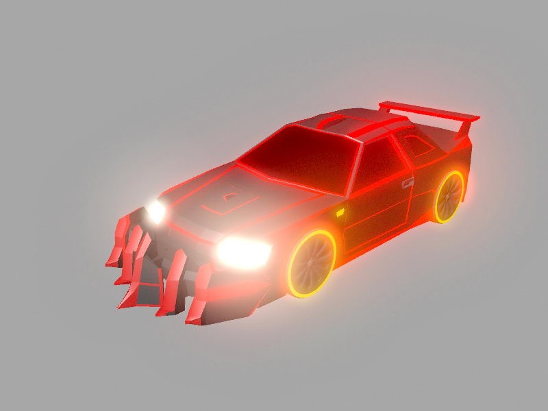 Ghost Rider Car 3d rendering