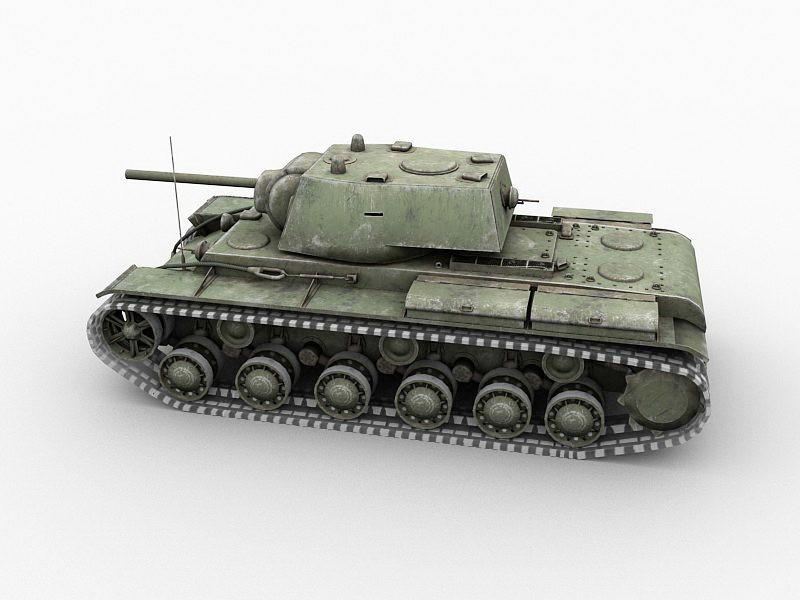 Soviet Union KV-1 Heavy Tank 3d rendering
