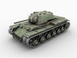Soviet Union KV-1 Heavy Tank 3d preview