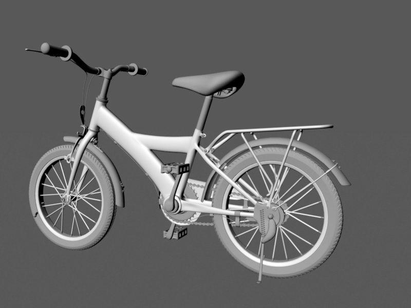 City Bike 3d rendering