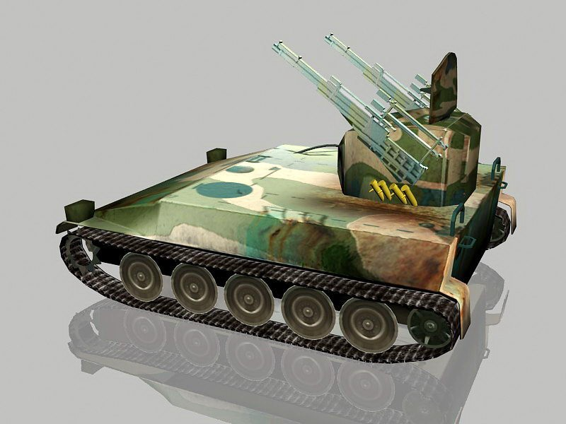 Self-Propelled Gun 3d rendering
