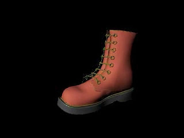 Brown Boot 3d rendering