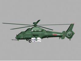 WZ-19 Chinese Attack Helicopter 3d preview