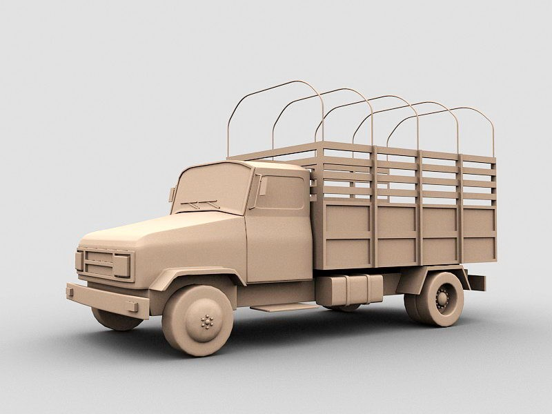 Old Army Truck 3d rendering