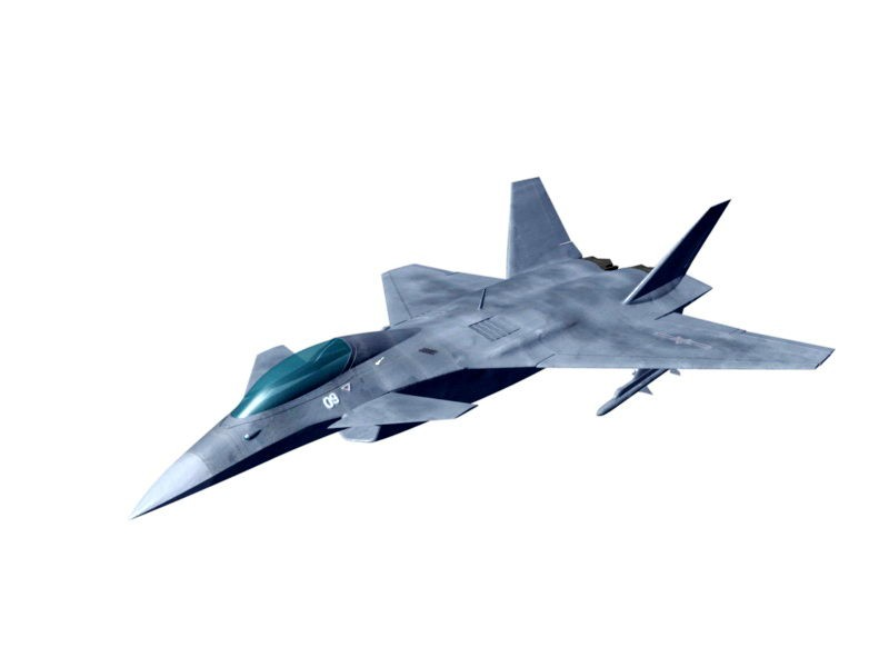 Chengdu J-10 Chinese Fighter Aircraft 3d rendering