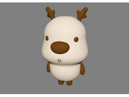 Cute Cartoon Deer 3d preview