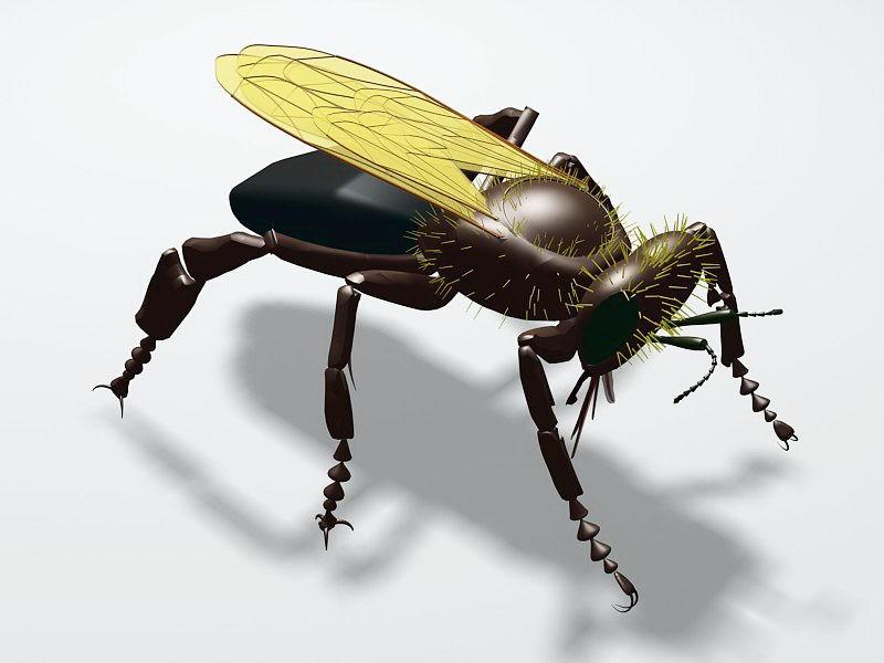 Wasp Bee 3d rendering