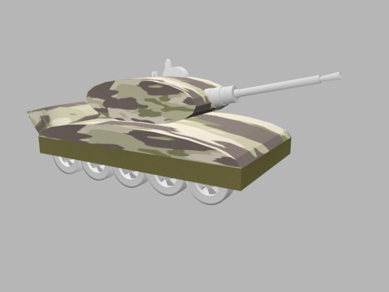 Small Army Tank 3d rendering